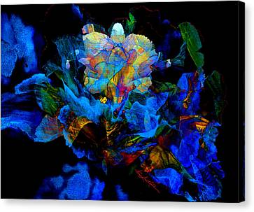 Floral Phantom Canvas Print by Hanne Lore Koehler