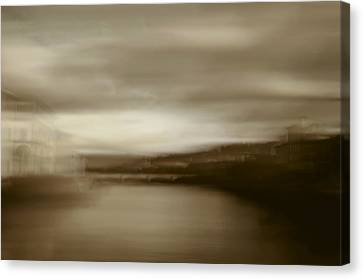 Florence, Arno River, Abstract Landscape Canvas Print by Frank Tschakert