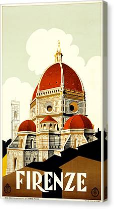 Florence Travel Poster Canvas Print by Italian School