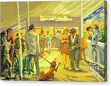 Florida  Dog Track Canvas Print by Shirl Solomon