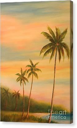 Florida Palms Trees Canvas Print by Gabriela Valencia