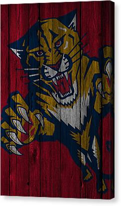 Florida Panthers Wood Fence Canvas Print by Joe Hamilton