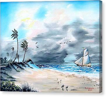 Florida Tempest Canvas Print by Riley Geddings