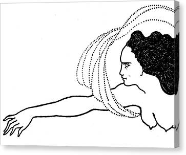 Flosshilde Canvas Print by Aubrey Beardsley