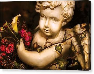 Flower - Rose - The Cherub  Canvas Print by Mike Savad