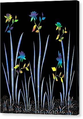 Flower Dance Canvas Print by Kurt Van Wagner
