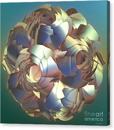 Flower Globe Canvas Print by Deborah Benoit