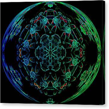 Flower Globe Canvas Print by Evelyn Patrick