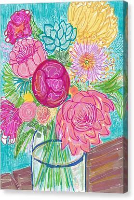 Flower In Vase Canvas Print by Rosalina Bojadschijew