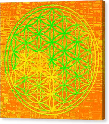 Flower-of-life No. 01 Canvas Print by Ramon Labusch