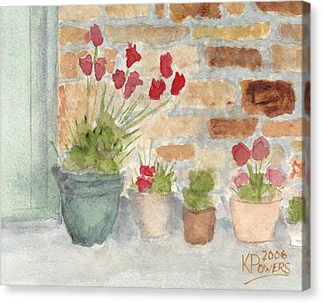 Flower Pots Canvas Print by Ken Powers