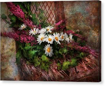 Flower - Still - Seat Reserved Canvas Print by Mike Savad