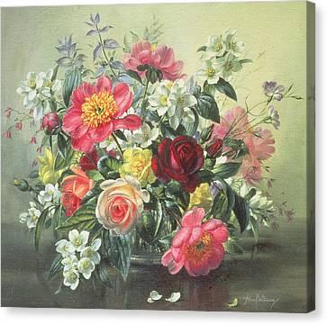 Flowers Of Romantic June Canvas Print by Albert Williams