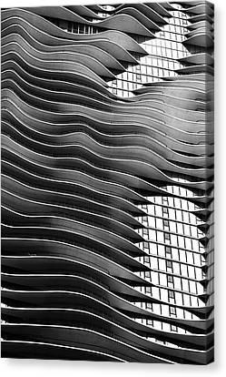 Flowing Facade Canvas Print by Andrew Soundarajan