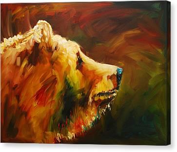 Fluffy Bear Canvas Print by Diane Whitehead