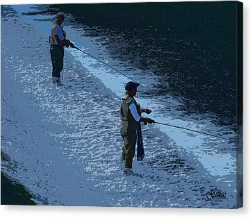 Fly Fishing Canvas Print by Julie Grace