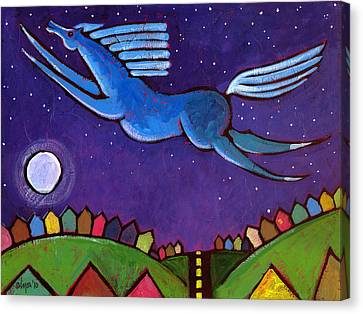 Fly Free From Normal Canvas Print by Angela Treat Lyon