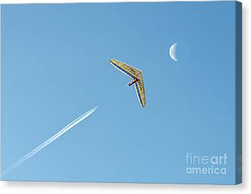 Fly Me To The Moon Canvas Print by Ray Warren