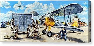 Flyers In The Heartland Canvas Print by Charles Taylor