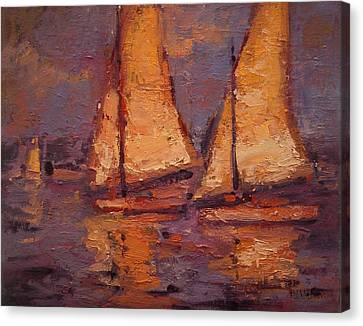 Flying Fallucas Canvas Print by R W Goetting