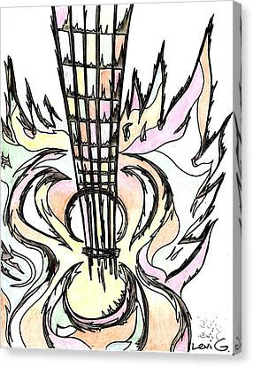 Flying Guitar  Canvas Print by Levi Glassrock