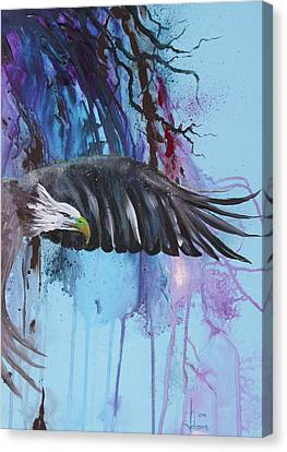 Flying High Canvas Print by Larry  Johnson