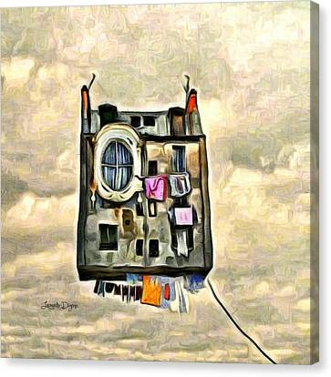 Flying House Canvas Print by Leonardo Digenio