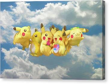 Flying Pokemon Canvas Print by John Haldane