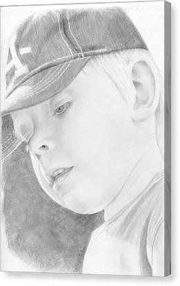 Potrait Of A Child Canvas Print by Bitten Kari