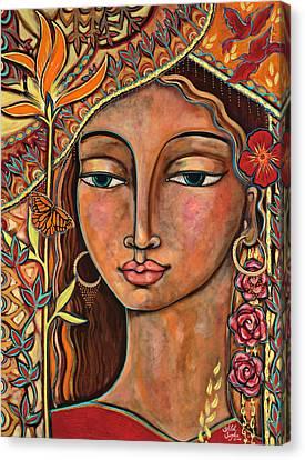 Focusing On Beauty Canvas Print by Shiloh Sophia McCloud
