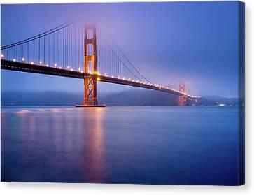 Fog City Bridge Canvas Print by Jonathan Fleming