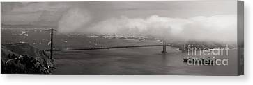 Foggy Golden Gate Canvas Print by Matt Tilghman