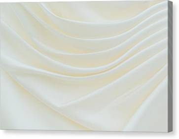 Folded Fabric Waves Canvas Print by Meirion Matthias