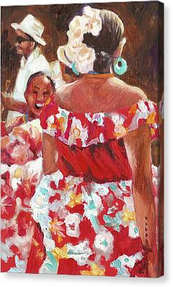 Folklorica I Canvas Print by Monica Linville