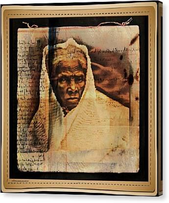 Follow The Drinking Gourd... Harriet Tubman Canvas Print by Ellen Cannon
