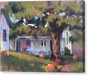 Follow The Pumpkins Canvas Print by Donna Shortt