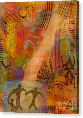 Follow The Yellow Brick Road Canvas Print by Angela L Walker