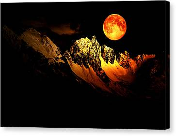 Follow Your Inner Moonlight Canvas Print by Michele Cornelius