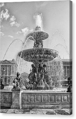 Fontaine Des Fleuves Canvas Print by Diana Haronis