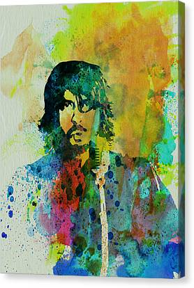 Foo Fighters Canvas Print by Naxart Studio