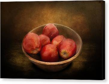 Food - Apples - A Bowl Of Apples  Canvas Print by Mike Savad