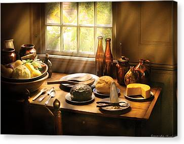 Food - Ready For Guests Canvas Print by Mike Savad