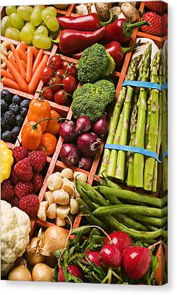Food Compartments  Canvas Print by Garry Gay