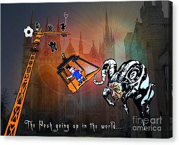Football Derby Rams Against Peterborough Posh Canvas Print by Miki De Goodaboom