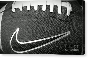 Football Canvas Print by LKB Art and Photography