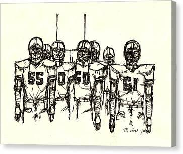 Football Nasties Canvas Print by Brett H Runion