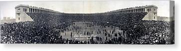 Football, The Game Is Over Panorama Canvas Print by Everett
