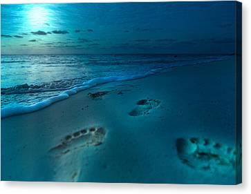 Footprints To Paradise Canvas Print by Betsy Knapp