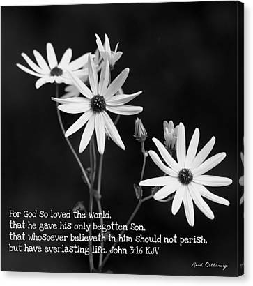 For God So Loved Black-eyed Susan Flower Canvas Print by Reid Callaway