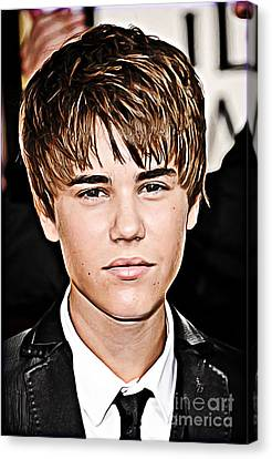For The Belieber In You Canvas Print by The DigArtisT